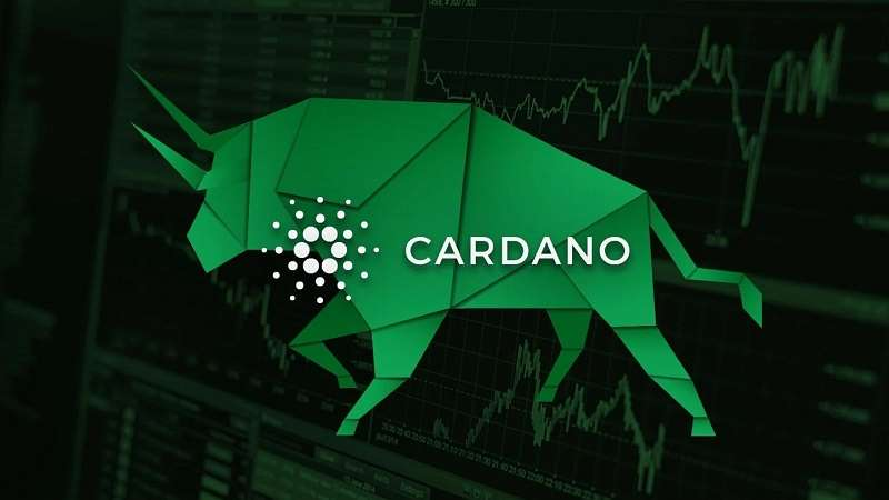cardano ada logo with a bull market symbol