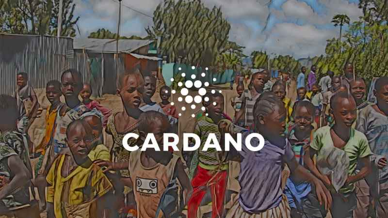 cardano logo with african children