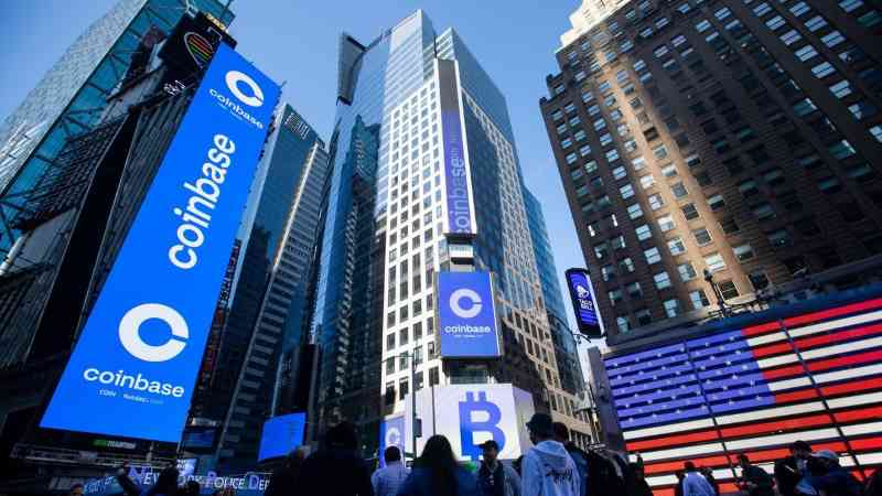 coinbase listed on nasdaq stock market